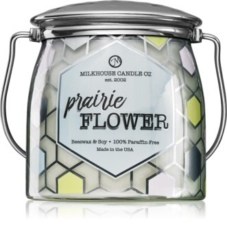 Milkhouse Candle Co. Creamery Prairie Flower scented candle Butter Jar