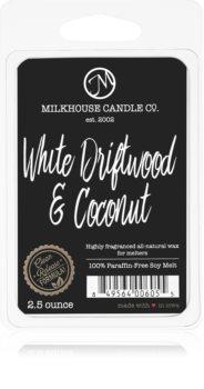 Milkhouse Candle Co. Creamery White Driftwood & Coconut cera per lampada aromatica