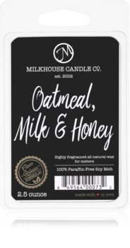 Milkhouse Candle Co. Creamery Oatmeal, Milk & Honey vaxsmältning