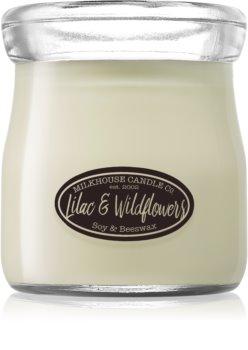 Milkhouse Candle Co. Creamery Lilac & Wildflowers duftlys Cremekrukke