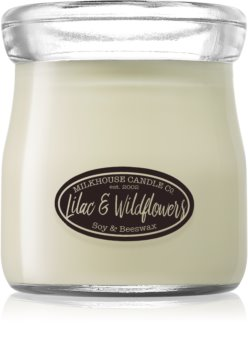 Milkhouse Candle Co. Creamery Lilac & Wildflowers lumânare parfumată  Cream Jar