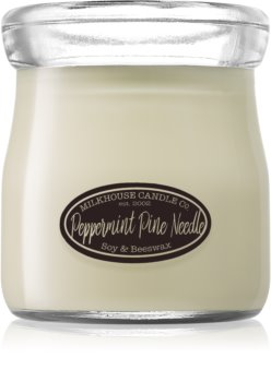 Milkhouse Candle Co. Creamery Peppermint Pine Needle scented candle Cream Jar