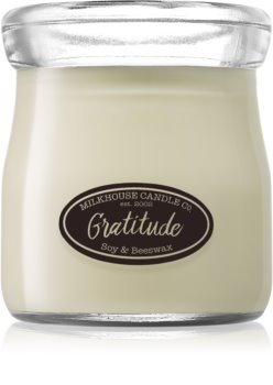 Milkhouse Candle Co. Creamery Gratitude bougie parfumée Cream Jar