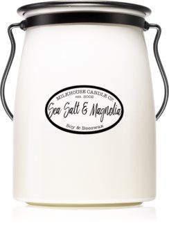 Milkhouse Candle Co. Creamery Sea Salt & Magnolia lumânare parfumată  Butter Jar