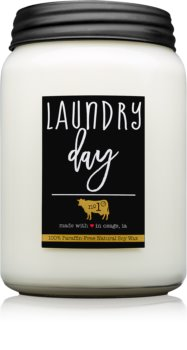 Milkhouse Candle Co. Farmhouse Laundry Day bougie parfumée Mason Jar