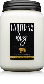 Milkhouse Candle Co. Farmhouse Laundry Day dišeča sveča  Mason Jar