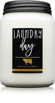 Milkhouse Candle Co. Farmhouse Laundry Day lumânare parfumată  Mason Jar