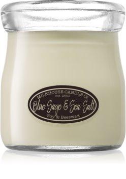 Milkhouse Candle Co. Creamery Blue Sage & Sea Salt dišeča sveča  Cream Jar