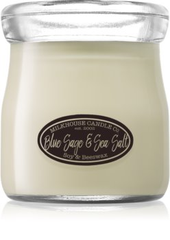 Milkhouse Candle Co. Creamery Blue Sage & Sea Salt scented candle Cream Jar