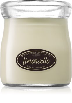 Milkhouse Candle Co. Creamery Limoncello scented candle Cream Jar