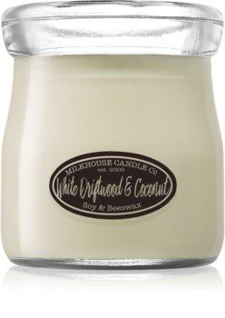 Milkhouse Candle Co. Creamery White Driftwood & Coconut Duftkerze Cream Jar
