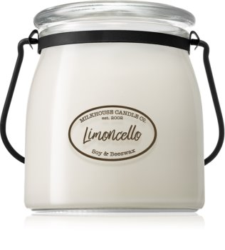 Milkhouse Candle Co. Creamery Limoncello duftlys Smørkrukke