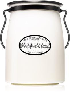 Milkhouse Candle Co. Creamery White Driftwood & Coconut duftlys Smørkrukke