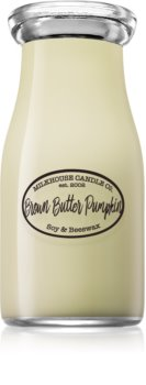 Milkhouse Candle Co. Creamery Brown Butter Pumpkin scented candle Milkbottle
