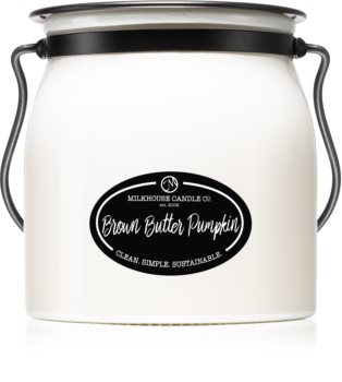 Milkhouse Candle Co. Creamery Brown Butter Pumpkin scented candle Butter Jar