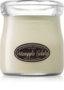 Milkhouse Candle Co. Creamery Pineapple Gelato scented candle Cream Jar