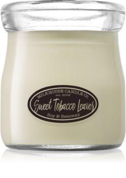 Milkhouse Candle Co. Creamery Sweet Tobacco Leaves candela profumata Cream Jar