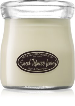 Milkhouse Candle Co. Creamery Sweet Tobacco Leaves illatos gyertya  Cream Jar