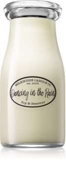 Milkhouse Candle Co. Creamery Dancing in the Rain scented candle Milkbottle