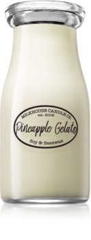 Milkhouse Candle Co. Creamery Pineapple Gelato scented candle Milkbottle