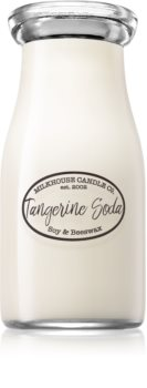 Milkhouse Candle Co. Creamery Tangerine Soda scented candle Milkbottle