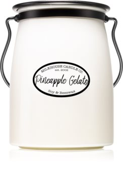 Milkhouse Candle Co. Creamery Pineapple Gelato scented candle Butter Jar