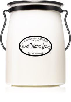 Milkhouse Candle Co. Creamery Sweet Tobacco Leaves vela perfumada Butter Jar