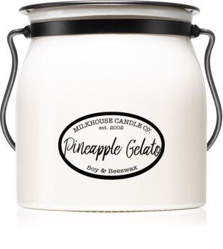 Milkhouse Candle Co. Creamery Pineapple Gelato candela profumata Butter Jar