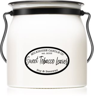 Milkhouse Candle Co. Creamery Sweet Tobacco Leaves lumânare parfumată  Butter Jar
