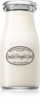 Milkhouse Candle Co. Creamery Roasted Pumpkin Seeds scented candle Milkbottle