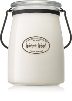 Milkhouse Candle Co. Creamery Warm Wool scented candle Butter Jar
