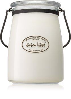 Milkhouse Candle Co. Creamery Warm Wool vela perfumada Butter Jar