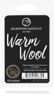 Milkhouse Candle Co. Creamery Warm Wool tartelette en cire