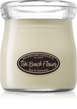 Milkhouse Candle Co. Creamery Tiki Beach Flower bougie parfumée Cream Jar