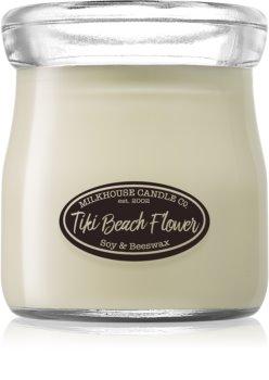 Milkhouse Candle Co. Creamery Tiki Beach Flower geurkaars Cream Jar