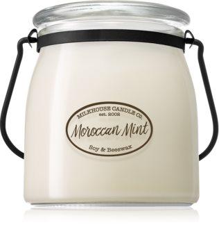 Milkhouse Candle Co. Creamery Moroccan Mint lumânare parfumată  Butter Jar