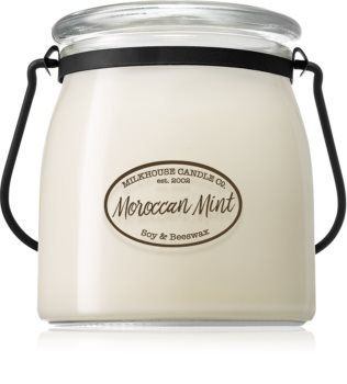 Milkhouse Candle Co. Creamery Moroccan Mint scented candle Butter Jar