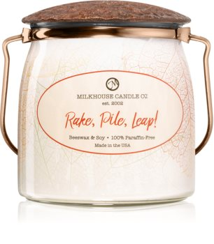 Milkhouse Candle Co. Creamery Rake, Pile, Leap! scented candle Butter Jar