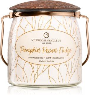 Milkhouse Candle Co. Creamery Pumpkin Pecan Fudge vela perfumada Butter Jar