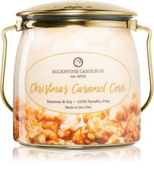 Milkhouse Candle Co. Creamery Christmas Caramel Corn vela perfumada  Butter Jar