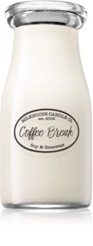 Milkhouse Candle Co. Creamery Coffee Break scented candle Milkbottle