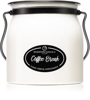 Milkhouse Candle Co. Creamery Coffee Break scented candle Butter Jar