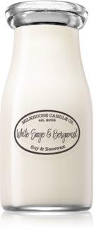 Milkhouse Candle Co. Creamery White Sage & Bergamot scented candle Milkbottle