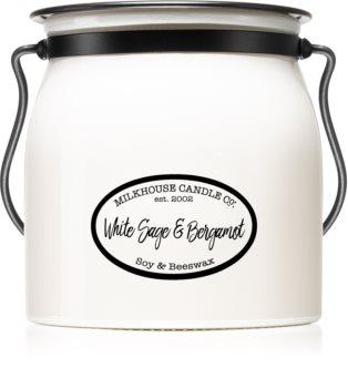 Milkhouse Candle Co. Creamery White Sage & Bergamot vonná svíčka Butter Jar