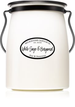 Milkhouse Candle Co. Creamery White Sage & Bergamot bougie parfumée Butter Jar