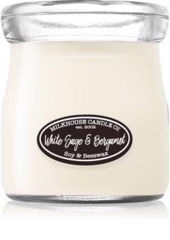 Milkhouse Candle Co. Creamery White Sage & Bergamot Tuoksukynttilä Kermapurkki
