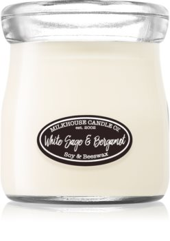 Milkhouse Candle Co. Creamery White Sage & Bergamot vonná sviečka Cream Jar