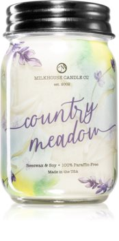 Milkhouse Candle Co. Farmhouse Country Meadow scented candle Mason Jar