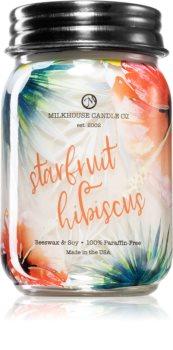 Milkhouse Candle Co. Farmhouse Starfruit Hibiscus aроматична свічка Mason Jar