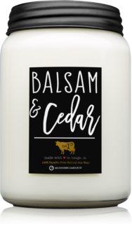 Milkhouse Candle Co. Farmhouse Balsam & Cedar candela profumata